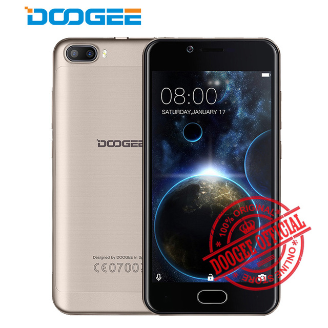New Doogee Shoot 2 Smartphone 5.0 inch Android 6.0 Quad Core 1GB RAM 8GB ROM Mobile Phone 3G WCDMA GPS WIFI Blutooth Cellphone