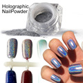 1 g/caja Arco Iris Brillo Espejo de Uñas Glitter Powder Uñas Polvo Láser Holográfica Perfecta Holo Uñas Pigmento de Plata Decoración