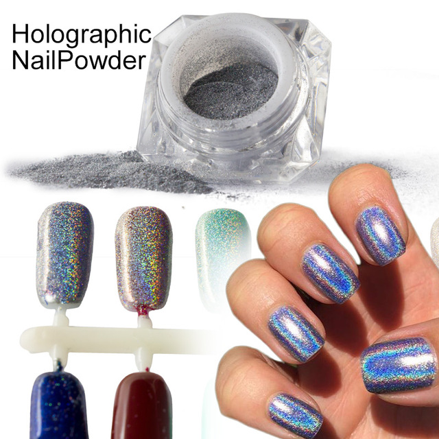 1g Box Rainbow Shinning Mirror Nail Glitter Powder Perfect Holographic Nails Dust Laser Holo