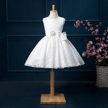 Новые Брендовые платья для девочек с цветочным узором и бантом