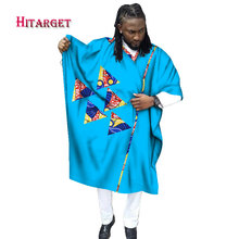 african men clothes wax Tailored Long Men Loose Plus Size Robe Dashiki Clothing Traditional African Mens O-neck  WYN337