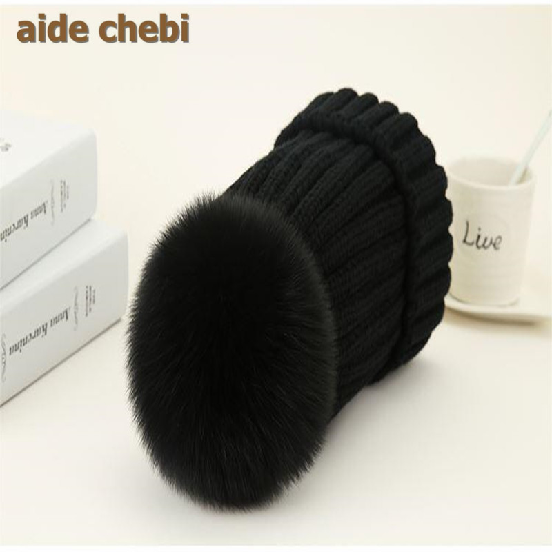 mink and fox fur ball cap pom pom winter hat for women girl 's wool hat knitted cotton beanies cap brand new thick female cap fetsbuy mink fur ball cap gray pom poms winter hat for women girl s wool hat knitted cotton beanies cap brand thick female cap