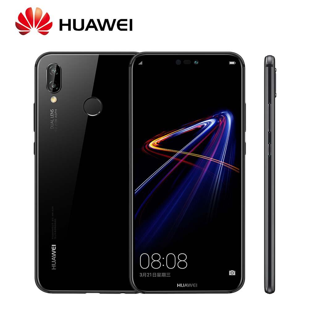 Mondial Rom Huawei P20 Lite Nova 3e Visage ID D'empreintes Digitales Vue Plein Écran 24MP Avant caméra 4g LTE Mobile téléphone