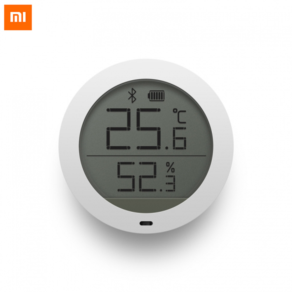 xiaomi mijia Bluetooth Temperature Humidity Sensor Digital Thermometer Moisture Meter Sensor LCD Screen For Mijia mi home app digital indoor air quality carbon dioxide meter temperature rh humidity twa stel display 99 points made in taiwan co2 monitor