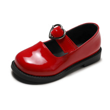Black Red Brown Autumn Childrens leather Shoes Girls Princess For student school shoes Kids 3T 4T 5T 6T 7T 8T 9T 10T-14T