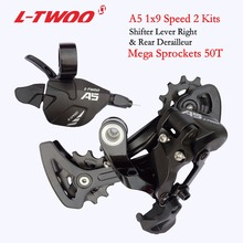 LTWOO велосипеда A5 оптической вилкой 1х9, 9-Скорость указано триггерный переключатель передач рычаг + задний переключатель для MTB велосипедная Кассета звездочки 32 T 36 T 40 т 42 46 T