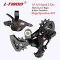 LTWOO Fiets A5 1x9 9-Speed Groepset Trigger Shifter Hendel + Achterderailleur voor MTB Bike Cassette tandwielen 32T 36T 40T 42T 46T