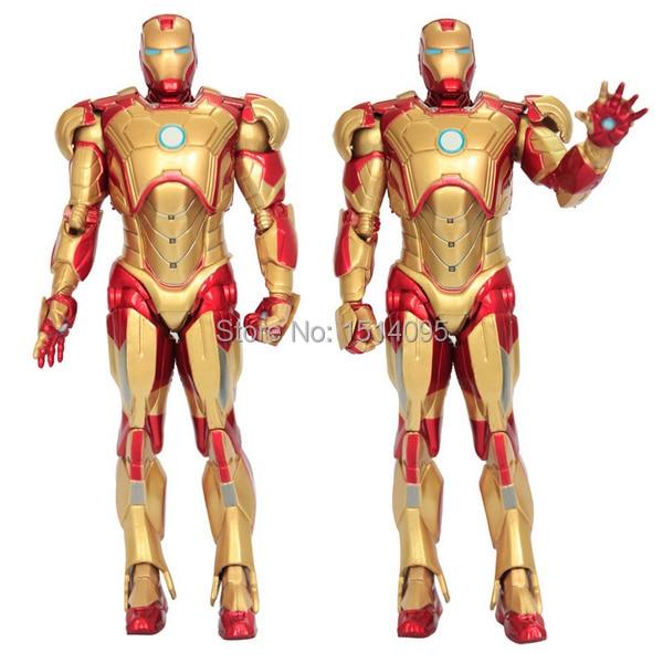 Super Heroes The Avengers Iron Man 3 Mark 42 PVC Action Figure Collection Model Toy 7 18cm IR001 17cm 1set super heros the avengers iron man mark 43 with tony s sofa pvc action figure model children toys doll collection