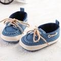 1504-bb20 Mocasines zapatos de Bebé Primeros Caminante Del Bebé Zapatos Casuales de Tenis de Lona de Mezclilla de la Muchacha