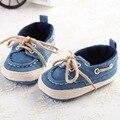 1504-bb20 Mocassins de Lona Tênis sapatos De Bebê Primeiros Caminhantes Do Bebê Sapatos Casuais da Menina Denim