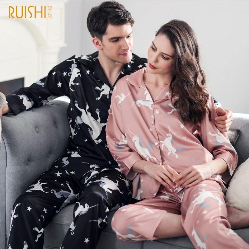 553f942e1f J&Q new couples matching pajama lingerie sleepwear men and women matching  pajamas soft satin pijama high quality brand pajamas