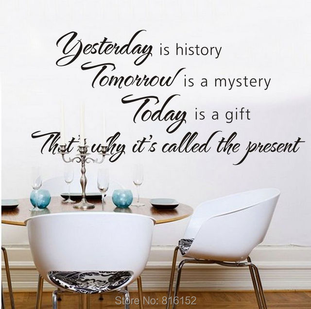 christian wall decal today tomorrow forever bible quote religious