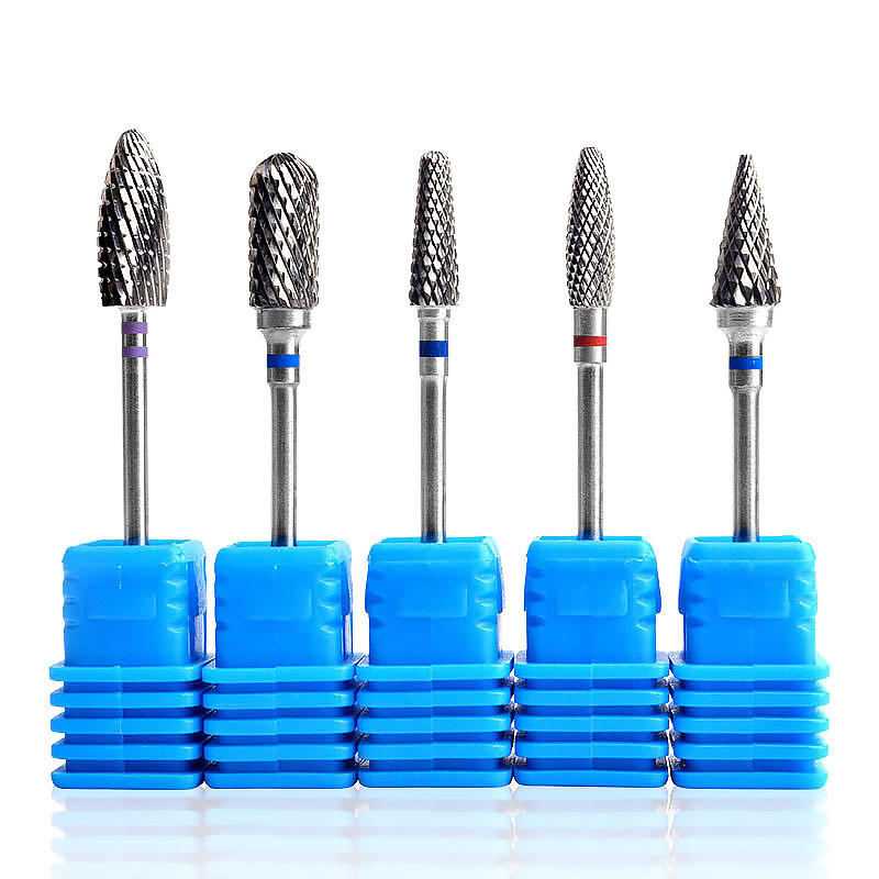 ACCHAMP Ceramic Nano Coated Carbide Nail Drill Bit Gel Remove Polishing Manicure Tools High Wear Resistance Manicura Cutters BS