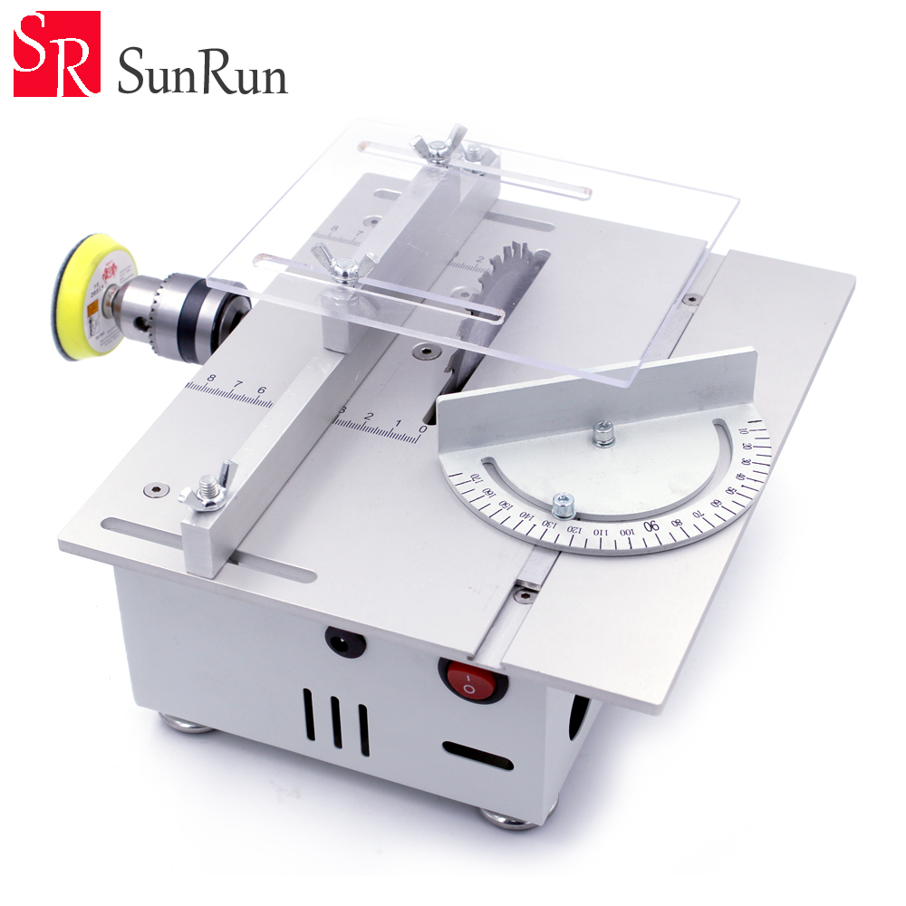 Mini WhiteTable Saw Handmade Woodworking Grinding/Polishing/Cutting Bench Saw DIY Model Crafts Cutting Tool With Saw Blade mini hobby table saw woodworking bench saw diy handmade model crafts cutting tool with power supply hss 60mm circular saw blade