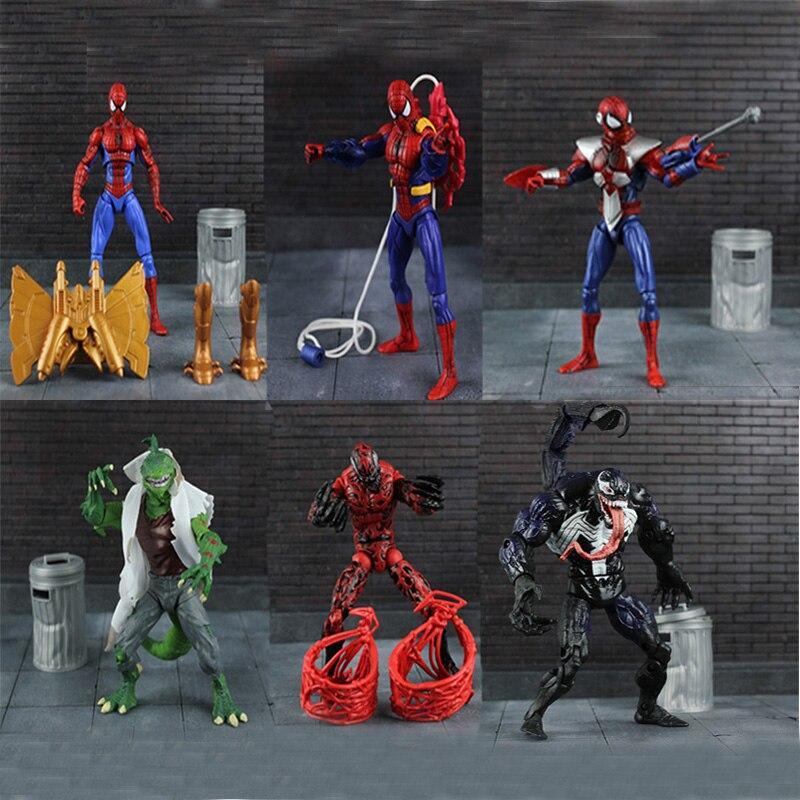 "6"" Superheroes Figma Universe Spiderman Venom Carnage ..."