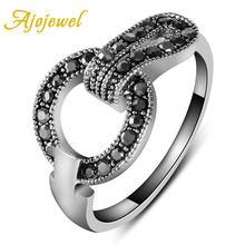 Женское кольцо Стразы ajojewel простое модное Оригинальное стильное