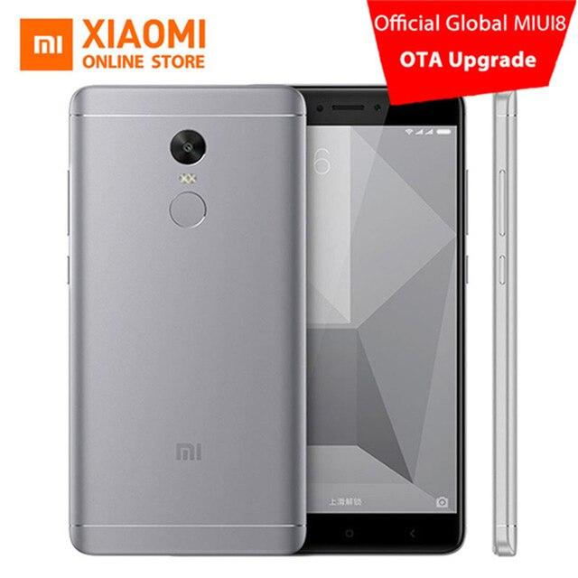 """Xiaomi Redmi Note 4x3 ГБ Оперативная память 16 ГБ Встроенная память мобильного телефона SNA P Дракон 625 Octa core Процессор 5.5 """"1080 p dis P лежал 13MP Камера 4100 мАч MIUI8.1"""