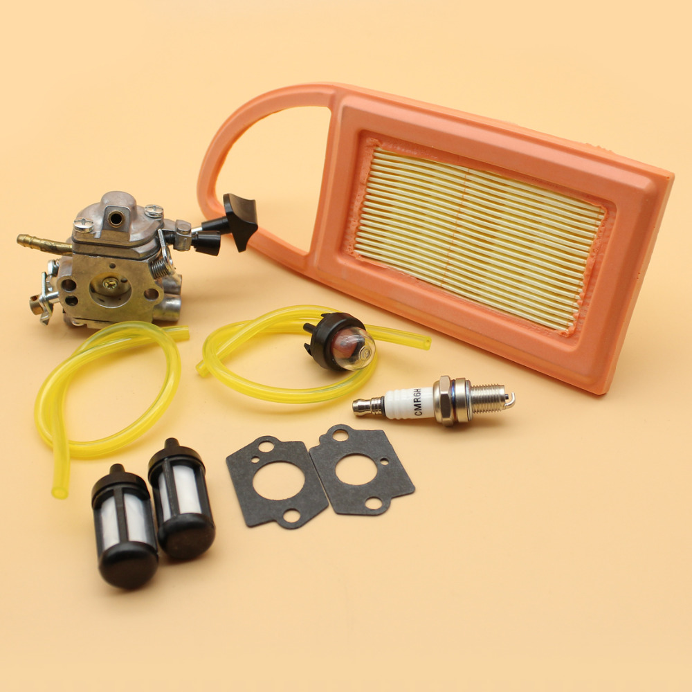 Carburetor Air Filter Primer Bulb Fuel Hose Line Filters Spark Plug Kit For STIHL BR550 BR600 BR500 Leaf Blower ZAMA S183 Carb цена