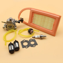 Carburetor Air Filter Primer Bulb Fuel Hose Line Filters Spark Plug Kit For STIHL BR550 BR600 BR500 Leaf Blower ZAMA S183 Carb