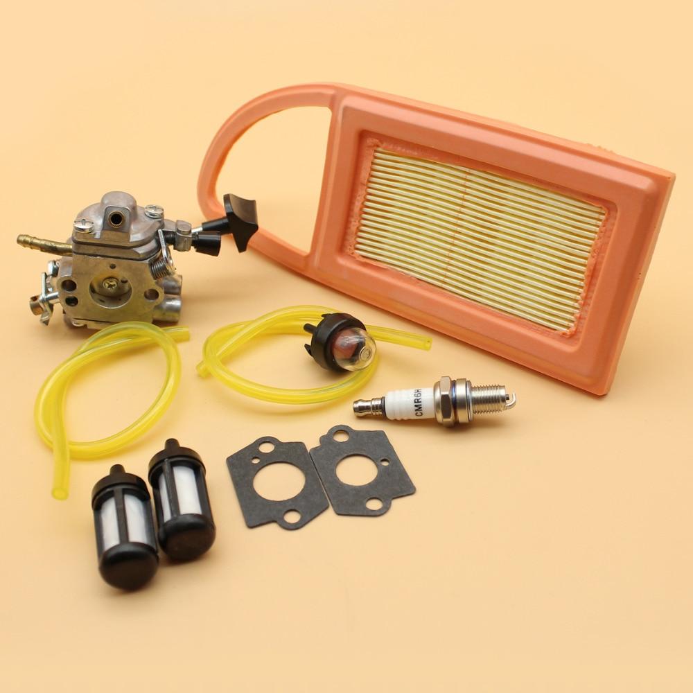 Carburetor Carb Air Filter Fuel Hose Primer Bulb Tune Up Kit For STIHL BR550 BR600 BR500 Backpack Blower Zama C1Q-S183