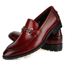 In 2 Color 2016 New Fashion 100% Genuine Leather Formal Brand Man Italian Loafers Men's Round Toe Slip-on Boat Shoes GLM135