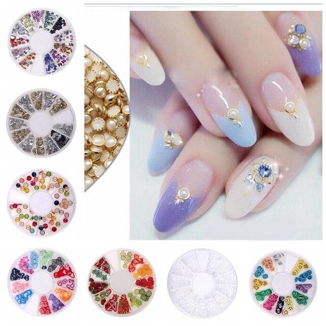 New Glitter Rhinestones Many Styles Wheel Charms Multicolor Items ...
