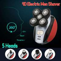 5 Head Men Electric Shaver 4D Floating Rechargeable Beard Hair Trimmer Razor Waterproof Comfortable ABS + Stainless steel