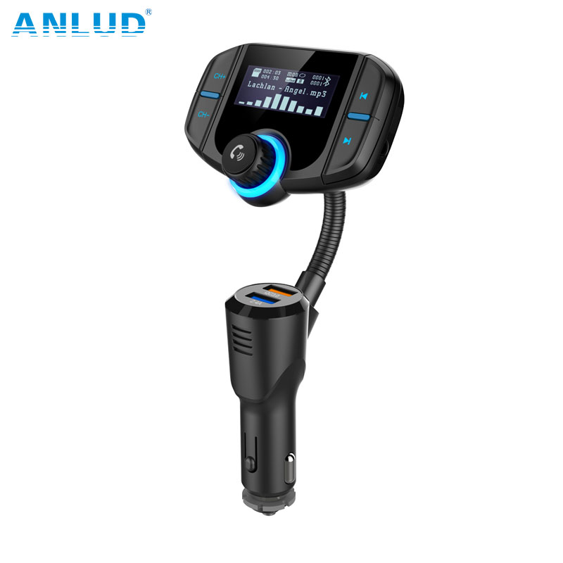 Bluetooth Freisprecheinrichtung FM Transmitter Modulator Aux Audio MP3 Player