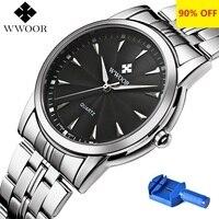 Кварцевые часы Для мужчин 50 м Водонепроницаемый Для мужчин s часы WWOOR 8028 MIYOTA 7T35 двигаться Для мужчин t простой Наручные часы с ремешок для час