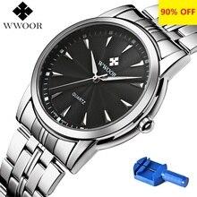 Quartz Horloge Mannen 50 M Waterdicht Heren Horloge Wwoor 8028 Miyota 7T35 Beweging Eenvoudige Polshorloges Met Horlogeband Fixing Tool 2020