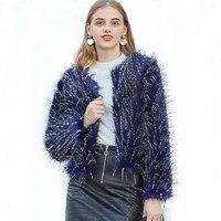 ZADORIN Women Hairy Faux Fur Coat Bohemian Peacock Feather Winter Fur Top Coats Faux Fur Jacket futro damskie kurtka zimowa