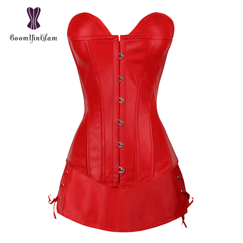 wholesale sexy faux leather women   bustier     corsets   daily wearing slimming body shapewear   corset   dress with g string