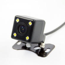 Car Electronice 4 LED Night Vision Rear View Camera Parking Assistance Rear View Camera 110 Degree Universal Waterproof HD CCD