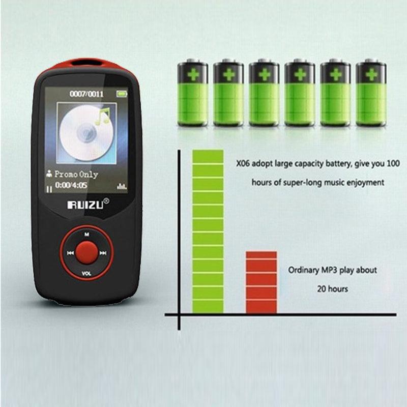 Ruizu X06 1 8 LCD 4GB Digital Bluetooth MP3 Music Player HIFI Player FM Radio TF