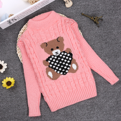 Spring Winter 2-10Y O-neck Knitted Kids Sweater Patterns Full Sleeve Pullover Sweater Boy And Girls Children Clothing KC-1547-14