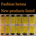 Gold Flash finger henna Nail Art Water Transfer Stickers Mixed Designs Watermark nails tips Decals Wraps Nail Art Tools