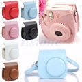 Leather Camera Shoulder Strap Bag Protect Case Pouch For Fujifilm Instax Mini 8 S117