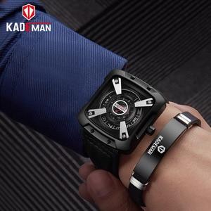 Image 5 - 612G New KADEMAN Fashion Watch Men Quartz Outdoor Sport Leather Wristwatches Casual Waterproof Unique Design Relogio Masculino
