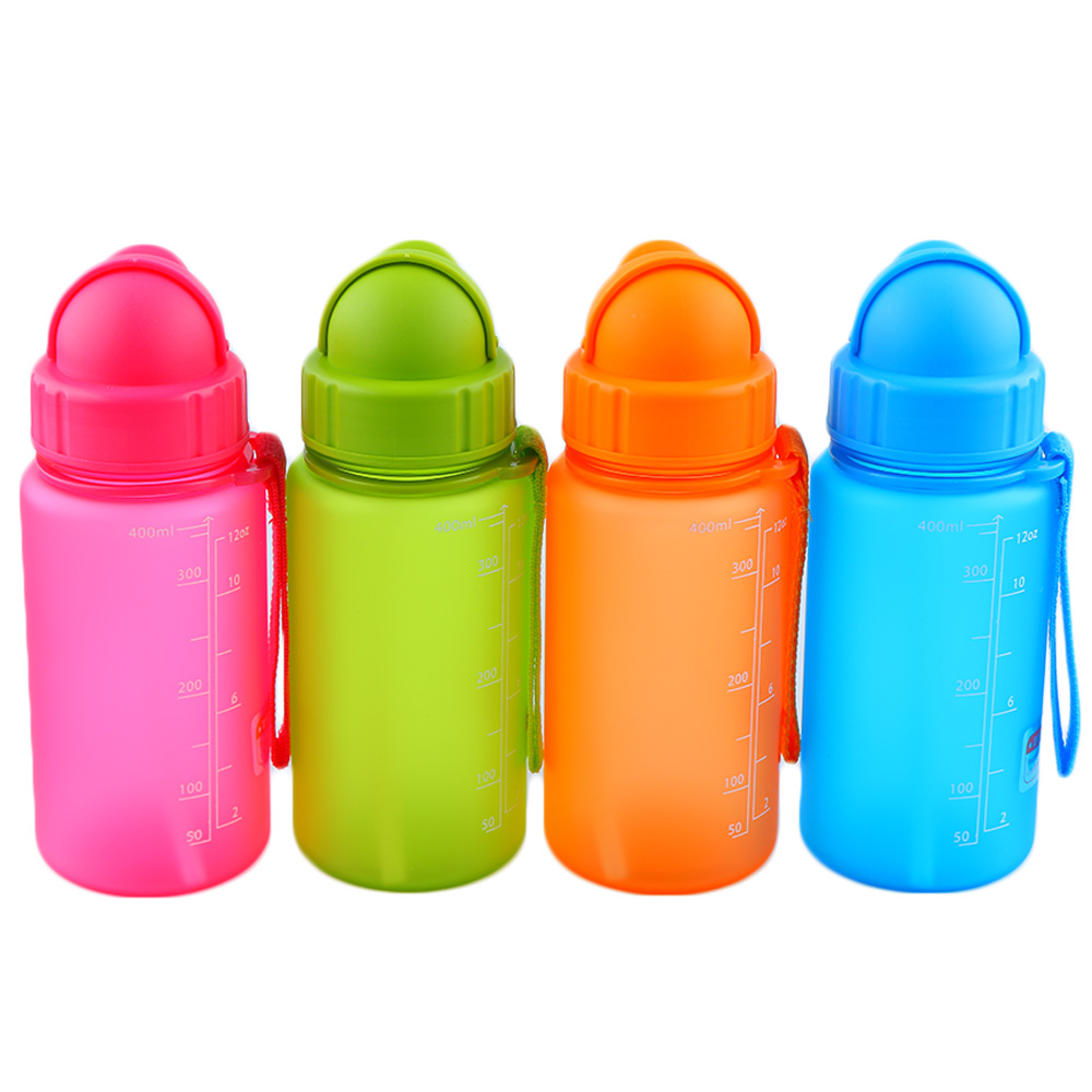 Children small Drinking Bottle kettle with straw Food Grade Slide cover Baby Feeding water bottle Portable Drinking Bottle-in Water Bottles from Home & Garden on AliExpress