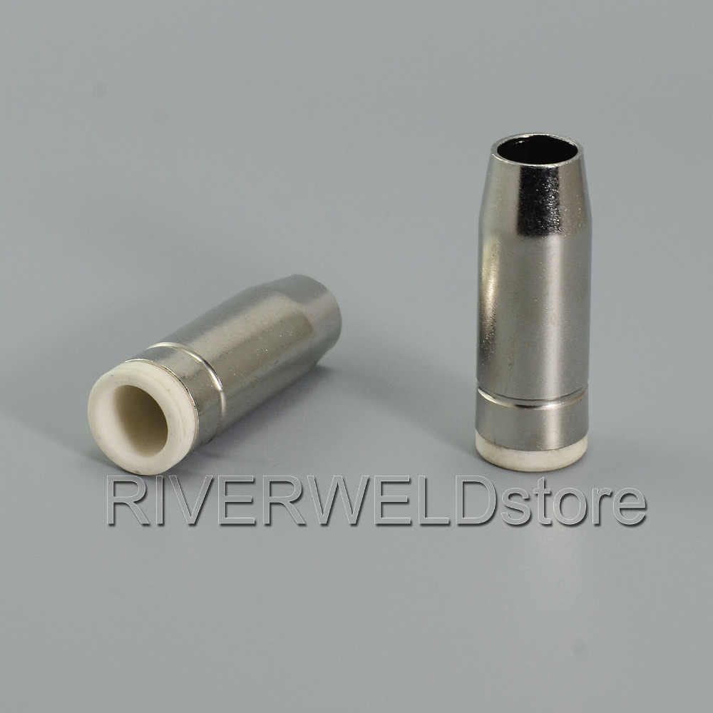 MB24 24KD MIG MAG CO2 Welding Torch Conical Nozzle Shield Cup Gas Nozzle 10PK