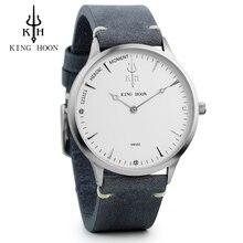 KH New Top Luxury Watch Men Brand Men's Watches Ultra Thin Stainless Steel Mesh Band Quartz Wristwatch Fashion casual watch