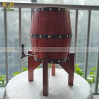 5 Liters OAK Wood Beer Barrel Dispenser with Stainless Steel Liner BT40