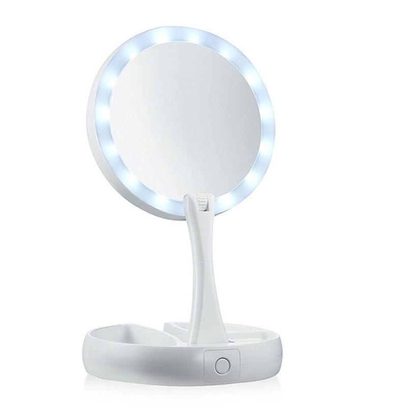 Spiegel Energisch Bellylady Doppelseitige Rotation Folding Leds Beleuchteten Schminkspiegel Tabletop Lampe Kosmetischen Spiegel Makeup Tools Schminkspiegel