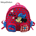 Cute animal Cartoon kids backpack Minnie Mouse SchoolBag Backpacks Children School Bag for girls mochila kindergarten Baby gifts