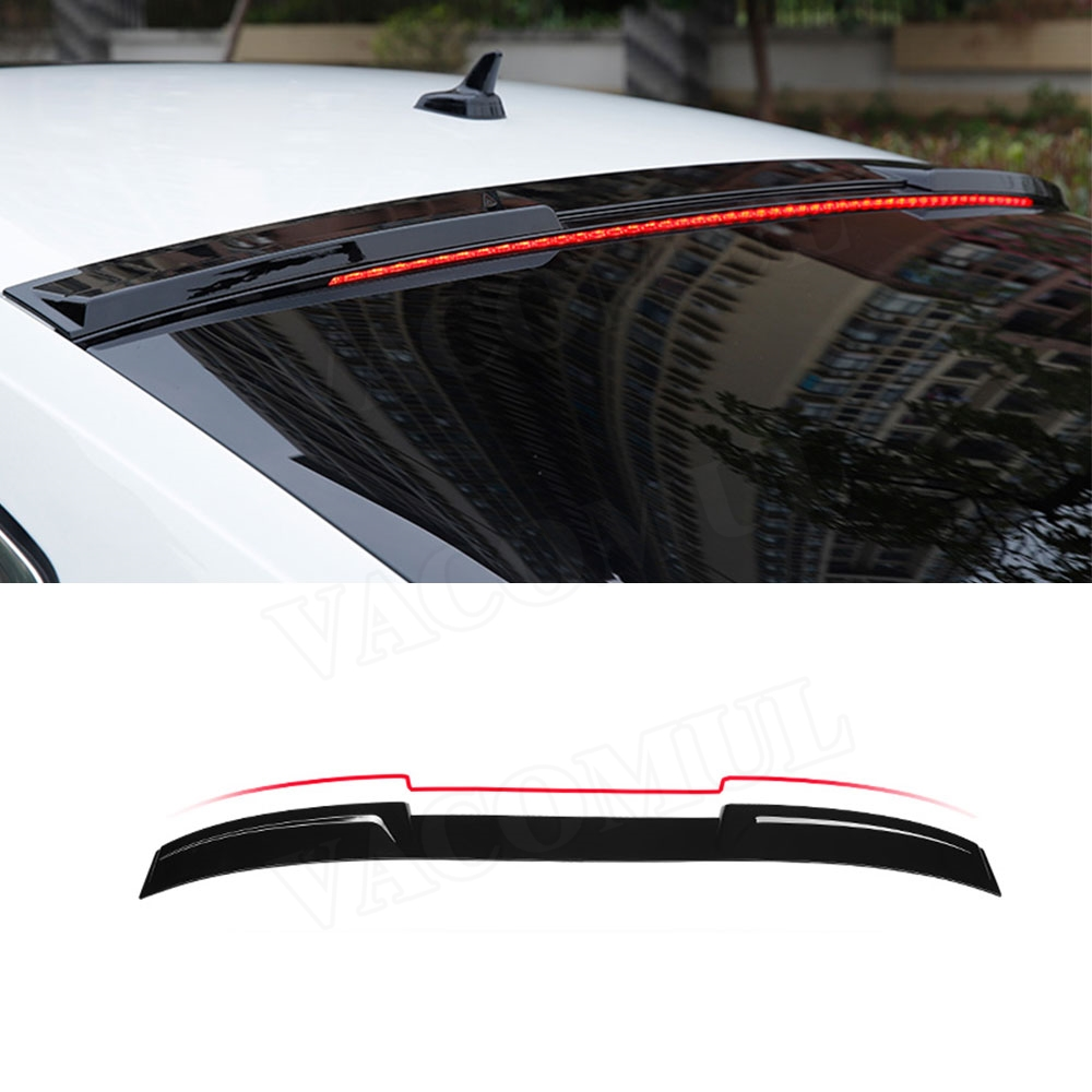 ABS Carbon Look Rear Roof <font><b>Spoiler</b></font> Window Wings For <font><b>Volkswagen</b></font> <font><b>CC</b></font> VW <font><b>Passat</b></font> <font><b>CC</b></font> 2019 Car Styling image
