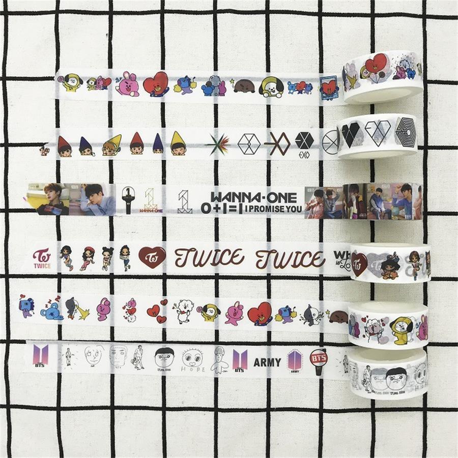 Kpop Seventeen Washi Tape Paper Masking Scrapbook Notebook Decorative Sticker Diy Beads & Jewelry Making Jewelry & Accessories
