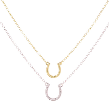 Brand Fashion Gold Silver Horseshoe Necklace Women Jewelry U Shaped Horse Hoof Pendant Necklaces Lobster Clasp Chain Necklaces necklace