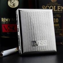IMCO Luxury Cigarette Case Cigar Box Genuine Pure Copper Tobacco Holder Pocket Storage Container Smoking Cigarette Accessories