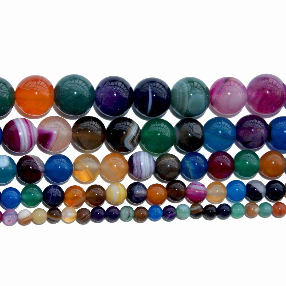 Commercio all'ingrosso di 4 6 8 10mm di Pietra Naturale di Cristallo Pietre Turchesi Rotondi Per Monili Che Fanno Diy del Braccialetto Della Collana Orecchini