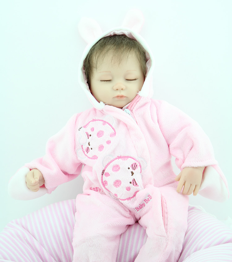 New 45cm lovely baby reborn doll toy the best birthday gift for kid child, high-end girl brinquedos silicone reborn sleep babies lovely panda in pink dress big 90cm plush toy panda doll soft throw pillow proposal birthday gift x030